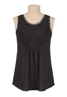 Crochet front button back tank (original price, $29) available at #Maurices