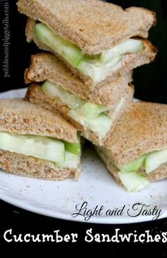 Recipe for Light Cucumber Sandwiches
