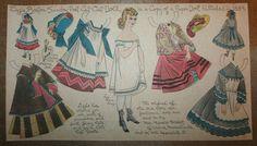 Vintage Boston Sunday Post Newspaper Cut Out Doll Lizzie 1889 Victorian | eBay