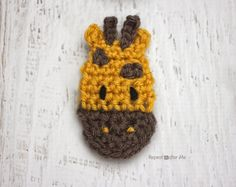 G is for Giraffe: Crochet Giraffe Applique - Repeat Crafter Me