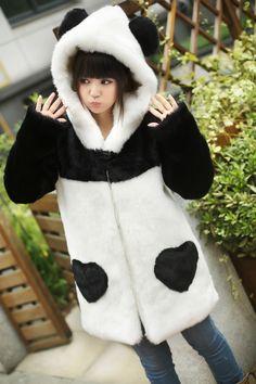SYNDROME | Plush Panda Coat