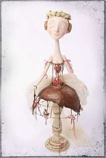 Santos Cage Doll...using an old candlestick as a base-nice idea
