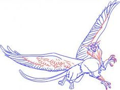 How to draw a traditional griffin. Really cool if you can draw that well... :)