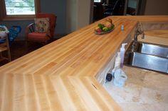 Bon Maple Edge Grain Kitchen Bar Top