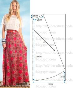 Check Out These Outstanding DIY Skirt Ideas and How to do them! - Explore Trending : Check Out These Outstanding DIY Skirt Ideas and How to do them! Diy Clothing, Sewing Clothes, Clothing Patterns, Dress Patterns, Sewing Patterns, Long Skirt Patterns, Circle Skirt Pattern, Fashion Sewing, Diy Fashion