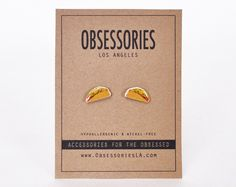 Taco Earrings Stud Earrings Mexican Food Fast Food Junk Food Foodie Taco Jewelry Taco Accessories 90s Grunge Club Kid Quirky Taco Gift Idea by ObsessoriesLA on Etsy https://www.etsy.com/listing/230183224/taco-earrings-stud-earrings-mexican-food