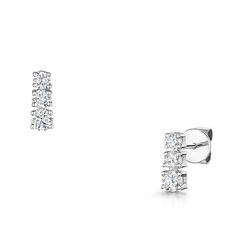 Mother's Day - Laings 18ct White Gold 0.60ct Three Diamond Earrings
