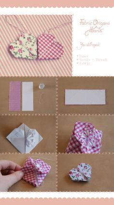 Fabric Origami Heart