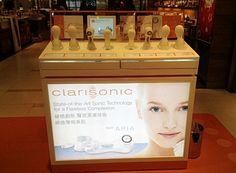Clarisonic Display Ipad Bar Presentation Tester Products Drawers Brushes Led Lighting Movable Lightbox Yamei Group