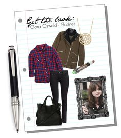 """Get the look: Clara Oswald - Flatlines"" by lottie-xxo ❤ liked on Polyvore featuring H&M, Topshop, Pamela Love and Montblanc"