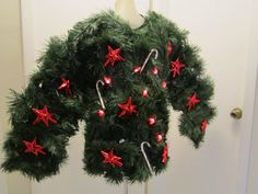 Large Lighted Ugly Christmas Candy Cane Lights Sweater Walking Christmas Tree Life of the Party Ready to Ship Fed Ex