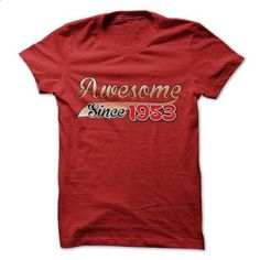 Awesome since 1953 - #shirt cutting #tshirt flowers. MORE INFO => https://www.sunfrog.com/Birth-Years/Awesome-since-1953-17137969-Guys.html?68278