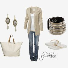 Get Inspired by Fashion: Casual Outfits | The Simple Beauty of White and Tan