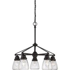 Add a craftsman-style feel to your home lighting with the Nuvo Laurel Chandelier . This chandelier features a rich Sudbury bronze finish. Bronze Chandelier, 5 Light Chandelier, Chandelier Shades, Rectangle Chandelier, Farmhouse Chandelier, Farmhouse Lighting, Craftsman Lighting, Modern Farmhouse Design, Rustic Farmhouse