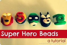 These are cool, and the site even offers a guide on how to make each of the 10 different super hero beads.  Perhaps we could string these on leather cord and turn them into bracelets or chokers.