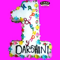 Number birthday cakes are a popular choice when kids are choosing a birthday cake for their birthday party. Perfect for a first birthday. Coolest Number 1 Girl Birthday Cake ordered from #cakepark .  Any combination of numbers can be made!!! Order now @ http://www.cakepark.net/theme-cakes.html / Call us 9444915533 #themecake #chennai #numbercakes #birthday