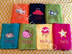 Smock Your Tot - Personalized Beach Towel, $25.00 (http://www.smockyourtot.com/personalized-beach-towel/)