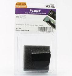 4e8b0d2e4 Wahl Peanut Snap-On Clipper/Trimmer Blade (Standard) - Black #2068-1001