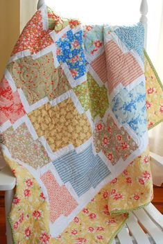 "I love a simple-to-piece quilt that looks much more complicated than it is, and I think "" Square Dance "" has that look.     This easy Layer..."