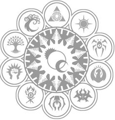 MTG Ravnica guilds. If I ever got a tattoo, it would be something like this, but with more color perhaps...