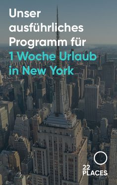 1 week New York: program for beginners [+ 4 & 5 Tage] - Are you planning a trip to New York? Take a look at our detailed program proposal and find out your favorite sights for your individual vacation in New York! New York Trip, New York Vacation, New York Travel, Travel Usa, Travel Photos, Travel Tips, Voyage New York, Upstate New York, Nightlife Travel