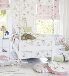 How To Style | Girls Rooms | Meadow Flower Fairies Fabric by Jane Churchill | Jane Clayton