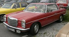 mercedes 1973 coupe - the history of cars - exotic cars - customs - hot rods - classic cars - vintage cars Mercedes E Class Coupe, Mercedes Benz, Porsche, Audi, Us Cars, Dream Garage, Buick, Exotic Cars, Cadillac