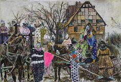 <span class='h1'>Farley Aguilar</span><br><br><em>Pestilence</em><br>2014, Oil on canvas, 71″ x 48″