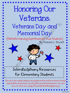 Let's Honor Our Veterans: Veterans Day and Memorial Day Enrichment