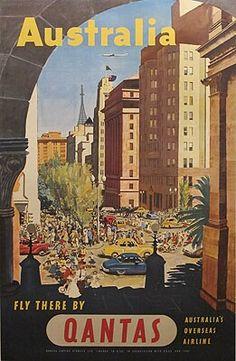 Qantas 1950's Poster