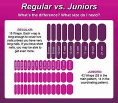 Jamberry nail wrap sizes #jamberry #nailwraps #nailart #manicure #pedicure