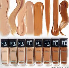 Maybelline Fit Me Foundation Matte Poreless Swatches