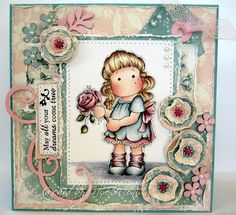 Tilda with Peony, Wedding collection, Magnolia stamps