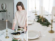 Christmas table setting  suvellecuisine.com