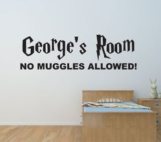 Harry Potter Personalised Bedroom Wall Name Vinyl Decal /