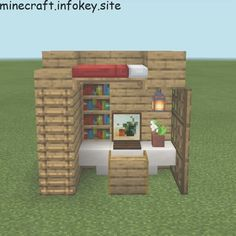 Hello, this is a bedroom design, it is also my first post! - Minecraft World Chalet Minecraft, Minecraft Cottage, Easy Minecraft Houses, Minecraft House Designs, Amazing Minecraft, Minecraft Blueprints, Minecraft Crafts, Minecraft Buildings, Minecraft Treehouses