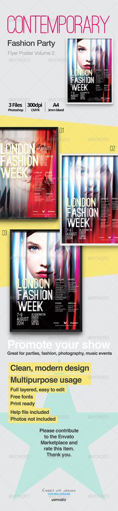 Contemporary Fashion Flyer Poster A4 Vol. 2 | Contemporary Fashion