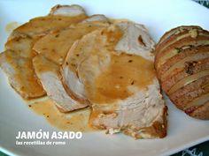 las recetillas de romo: JAMÓN ASADO