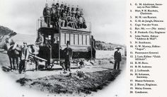 Inauguration of the first horse-drawn train of the Cape Town & Green Point Tramway in 1863