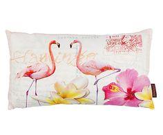 Kussenhoes Flamingo, multicolour, 30 x 50 cm