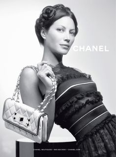Christy Turlington for CHANEL Spring campaign 2008 (she was just about to turn 40)