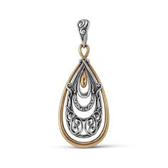 Carolyn Pollack Sterling Silver Mixed Metal Scroll Pendant Enhancer *** Read more at the image link. (This is an affiliate link and I receive a commission for the sales)