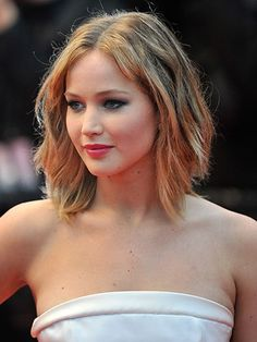"Jennifer Lawrence - A graduated cut that's longer in the front works best on those with heart-shaped faces like Jennifer, or on oval faces. ""The style leaves a blunt edge in the front, so if you have a stronger jawline it may enhance the bottom portion of your face rather than offering a softer, feminine silhouette,"" explains Willhite."