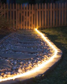 The Secret Life of Rope Light Rope light ideas including walkway lights, landscape lighting and deck lights. Use energy efficient LED rope light for your long term outdoor lighting projects! Deck Design, Landscape Design, Garden Design, Landscape Architecture, Led Rope Lights, Solar Walkway Lights, Outdoor Rope Lights, Led Garden Lights, Big Leaf Plants