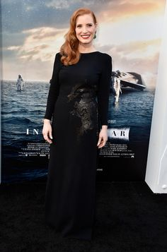 "Premiere Of Paramount Pictures' ""Interstellar"" -Jessica Chastain"