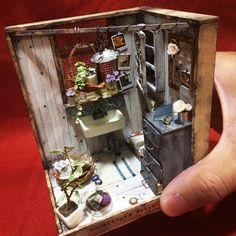 "Gefällt 140 Mal, 1 Kommentare - @tkt7355 auf Instagram: ""ユカリンゴさんの小さな作品です。#ミニチュア#miniature #dollhouse #ドールハウス#ミニチュアフード#diorama #dioramas #ジオラマ#ユカリンゴノテノヒラハウス"""