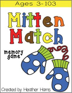 A simple game of memory using cute mitten graphics. Winter Activities, Classroom Activities, Book Activities, Preschool Winter, Winter Fun, Winter Theme, Snow Theme, Daycare Curriculum, Homeschool
