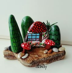 Home Cratfs - Welcome Crafts Home Pebble Painting, Pebble Art, Stone Painting, Rock Painting, Stone Crafts, Rock Crafts, Arts And Crafts, Visual Art Lessons, Visual Arts