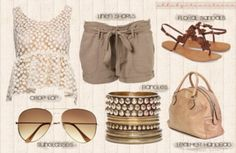 like the shorts and shoes and bag