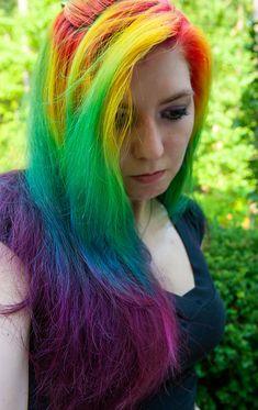 Rainbow hair !